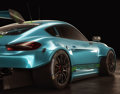 Porsche Cayman RSR Ariandesign EVO Studio shoots