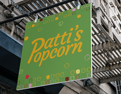 Patty's Popcorn Branding
