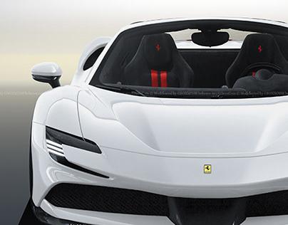 2020 Ferrari SF90 Stradale Spider Bianco