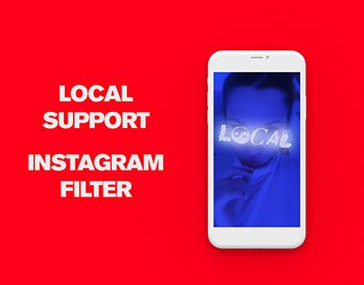 INSTAGRAM FILTER FOR @LOCALSUPPORT