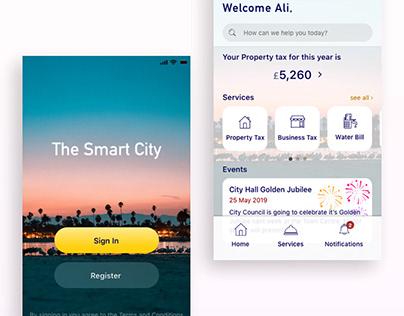 Smart City App concept