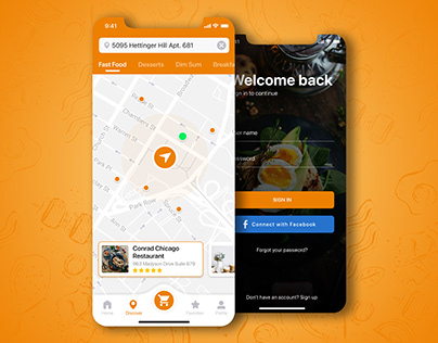 Food Delivery Service   Mobile App