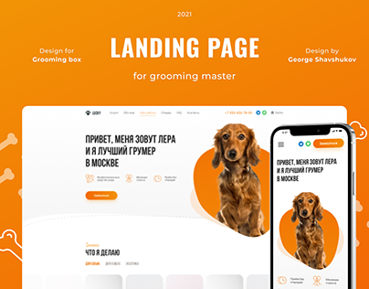 Landing page for grooming master