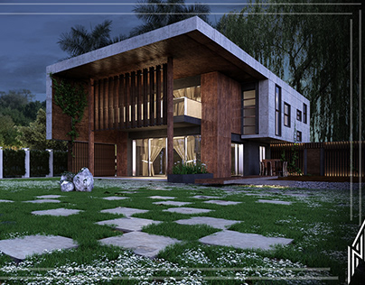 Full work in 3dmax V-ray rendering Itoo forest