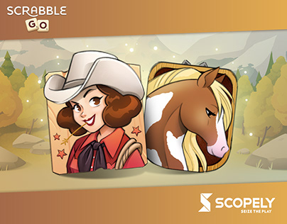 Western tiles designs for Scrabble® GO game.