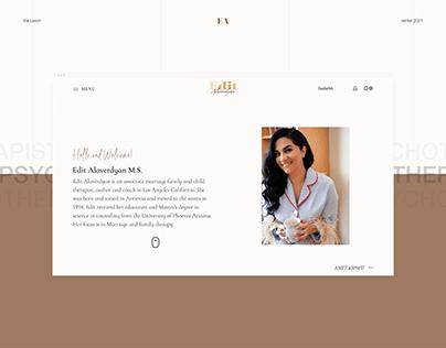 Psychotherapist - Web design & development