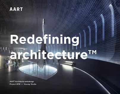 AART architects – webdesign