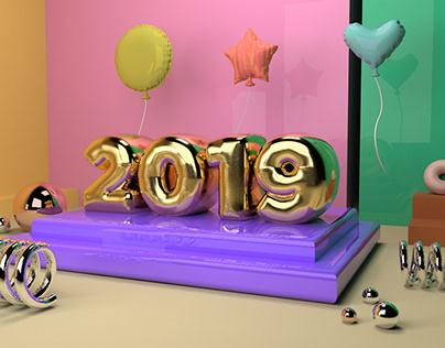 2019 3D Illustration