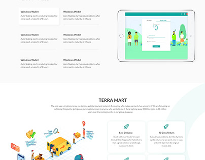 Home Page design for Crypto currency