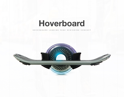 Hoverboard Landing Page Concept