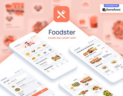 Foodster – Food Delivery & Restaurant App Template