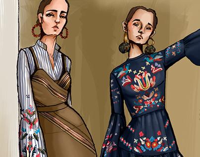 Tanya Taylor Pre Fall 17' - Ilustración digital