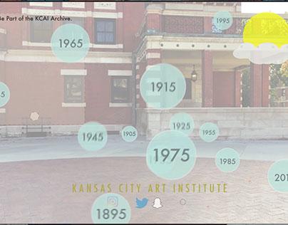 KCAI Interactive Timeline