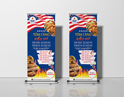 Toca takeaway roll up standee
