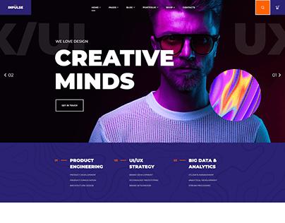 Creative Agency Website Design in WordPress