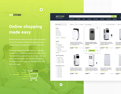eCommerce design project
