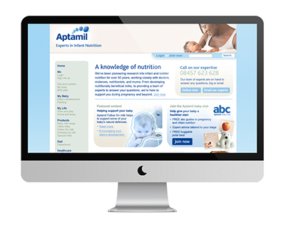 Aptamil Website