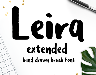 Leira - Hand Drawn Brush Font