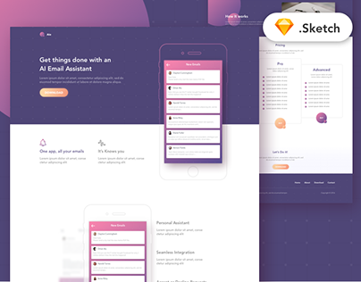 Aie - Free app landing page template