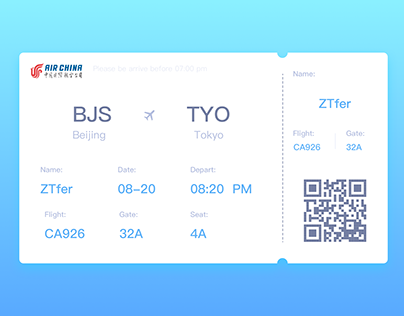 DailyUI 024-Boarding Pass
