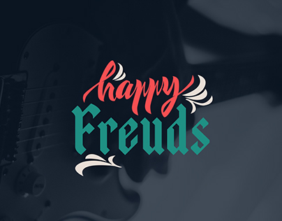 Happy Freuds  Lettering Logotype