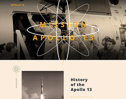 WEB DESIGN - APOLLO 13