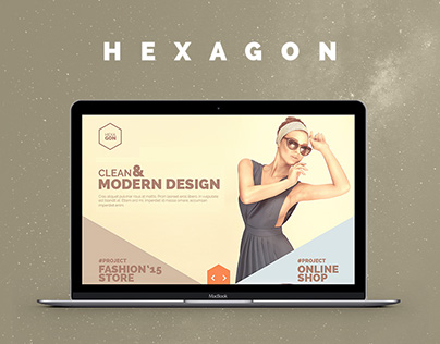 HEXAGON | Creative One Page Portfolio