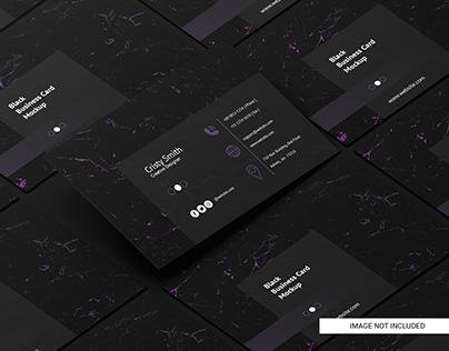 Black business card free mockup