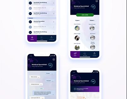 Ballfoot - mobile app redesign