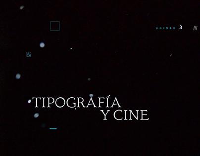 Títulos de crédito: Tipografía y cine
