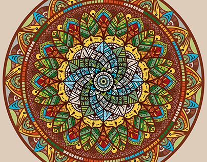 Leafy Meditation - Mandala