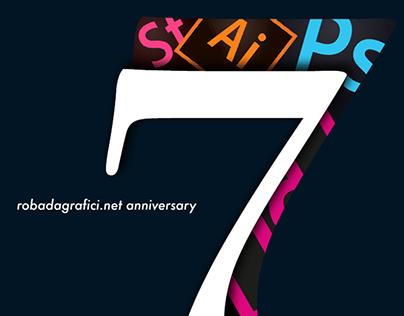 Poster Graphic - 7th Robadagrafici's anniversary