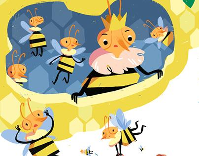 Honey Bees And Autumn Veggies
