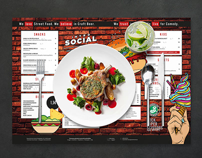 Menu design, Intro Social