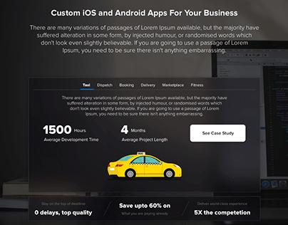 Mobile App Development Web Page
