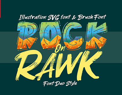 ROCK on RAWK | SVG Font Duo