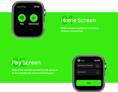 Just Pay - Apple Watch Design