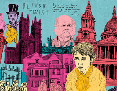 Exclusive books / Oliver Twist wrapping paper