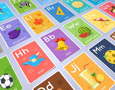 Creative Alphabet - 26 illustrative cards