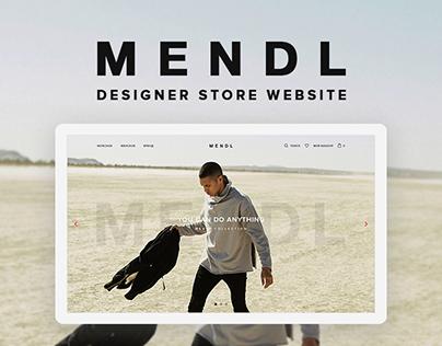 Mendl Online Store Concept