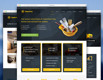 Construction company (Design, HTML5/CSS3/JS, CMS)