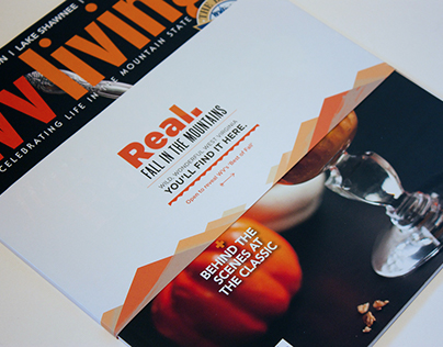 """WV Tourism, """"Real"""" Campaign, Magazine Bellyband"""