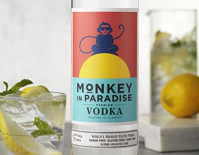 Monkey in Paradise - Logo, Packaging, Website Redesign