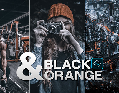 Photoshop Preset [Black & Orange]