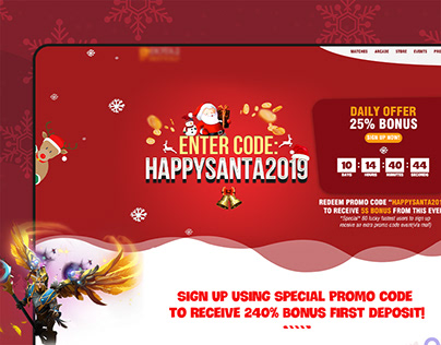 Esport Landing page - Christmas Event call to sign up