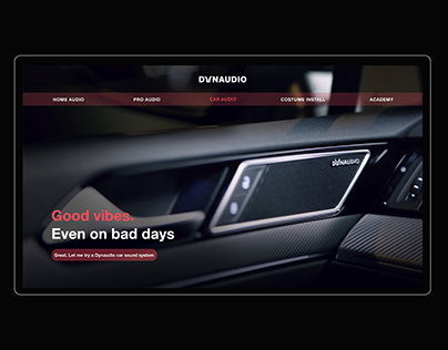 DYNAUDIO - Website redesign