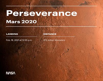 Perseverance Mars - Website