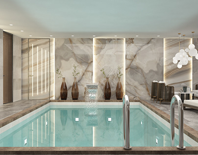 DESIGN PROJECT PRIVATE SPA AREA, MOSCOW, 110 M²