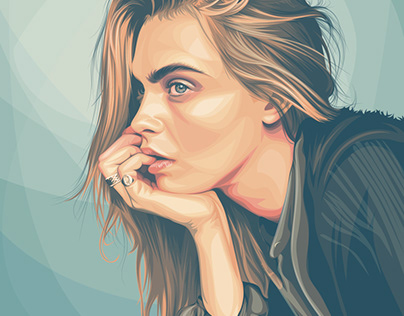 Opacity-Gradient Portrait Style Vector