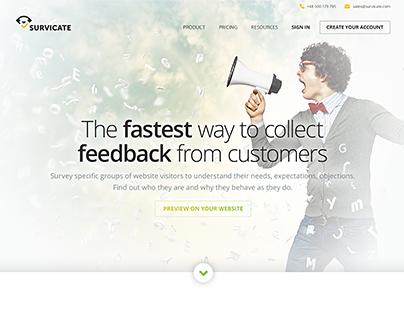 Survicate | Landingpage redesign 2.0